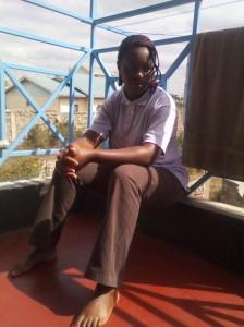 Chipo at the veranda