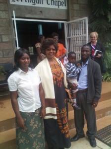 My family and ANU Vice Chancellor, Prof. Leah Marangu