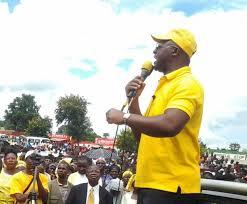 Atupele Muluzi addressing his supporters